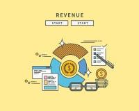 Simple line flat design of revenue, modern  illustration Royalty Free Stock Photo