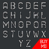 Simple Line Hipster Geek Abstract Retro Alphabet A Royalty Free Stock Image