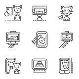Simple line icons for selfie Royalty Free Stock Photography