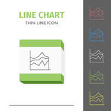 Simple line stroked chart or graph vector icon royalty free stock photo