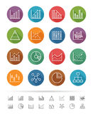 Simple line style : Chart and Graph icons set - Vector illustration. An illustration set for printing, web page, presentation, & design products. Fully scalable Stock Photography