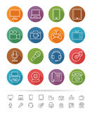 Simple line style : Electronic Devices icons set - Vector illustration Royalty Free Stock Photo