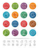 Simple line style : Office & Business icons set - Vector illustration Stock Photos