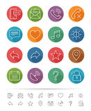 Simple line style : Web & Mobile icons set - Vector illustration Stock Photography