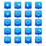 Simple line weather icon set. Vector illustration. Meteorology s Stock Images
