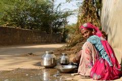 Simple living on the desert in Gujarat Stock Photo
