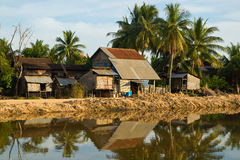 Simple living huts Royalty Free Stock Photography