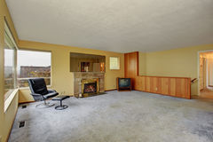 Simple living room with carpet. Royalty Free Stock Photography