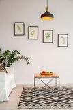 Simple Living Room With Table Stock Image