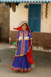 Simple living in the village on the desert in Gujarat Stock Images
