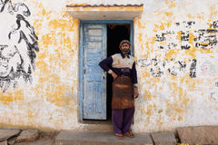 Simple living in the village on the desert in Gujarat Royalty Free Stock Photo