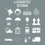 Simple logistics icons set. Royalty Free Stock Photo