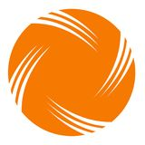 Simple Logo Circle orange Flat and white object. Simple logo circle colour orange flat and white object, for logo business or company Royalty Free Stock Images