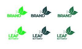 Logo leaf butterfly. Simple logo, modern logo, abstrack logo royalty free illustration