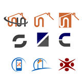 Simple logos Royalty Free Stock Image
