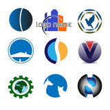 Simple logos Stock Image