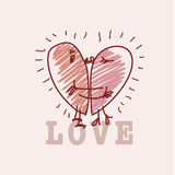 Simple love card Royalty Free Stock Images