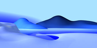 Simple ls_02. Cold scape, freezing everywhere Royalty Free Stock Image