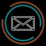 Simple Mail Thin Line Vector Icon royalty free illustration