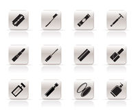 Simple Make-up icons Stock Images