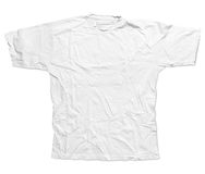 Simple male white t-shirt. Simple male wrinkled white t-shirt Royalty Free Stock Photo