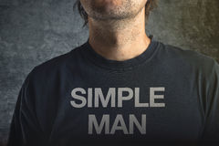 Simple man Stock Images