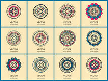 Simple mandalas collection stock image