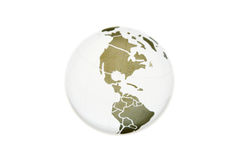 Simple map of America. The simple map of America on the globe Royalty Free Stock Image