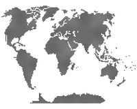 Simple map of the world. Stock Photography