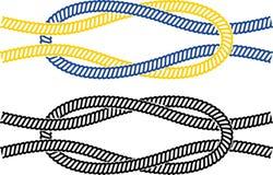 Simple marine knot Stock Photos