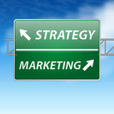 Simple marketing and strategy sign Royalty Free Stock Images