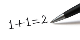 Simple math formula Stock Photo