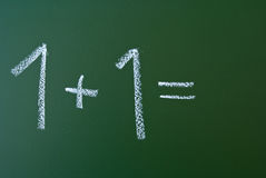 Simple mathematic formula on blackboard Royalty Free Stock Photo