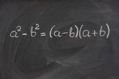Simple mathematical formula on a blackboard royalty free stock images