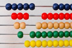Simple Mathematics. Doing Simple Mathematics On Chinese Abacus royalty free stock images
