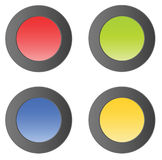 Simple matt vector buttons Stock Photography