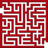 Simple maze. Vector illustration of Simple red maze Stock Photography