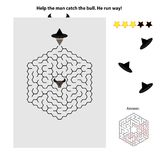 Simple maze for kids Royalty Free Stock Photos