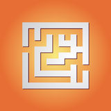 Simple maze Stock Photos