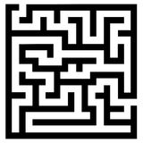 Simple maze Stock Images