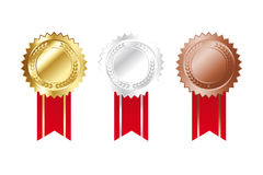 Simple medals for anniversaries Royalty Free Stock Image