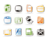 Simple Media icons Stock Photos