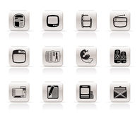 Simple Media icons. Simple Media and Communication icons - Vector Icon Set Royalty Free Stock Images