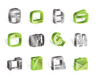 Simple Media icons Stock Photo