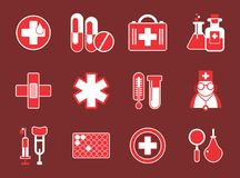 Simple medical icons Royalty Free Stock Photography