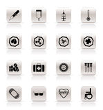 Simple  medical themed icons and warning-signs. Vector Icon Set Stock Photo