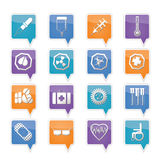 Simple  medical themed icons and warning-signs. Vector Icon Set Royalty Free Stock Images