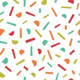 Simple memphis style pattern. Seamless abstract background. Stock Photos