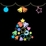 Simple Merry Christmas background Royalty Free Stock Images