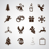 Simple Merry Christmas icon. Stock Photo